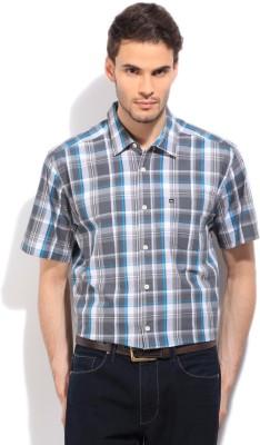 Quiksilver Men's Checkered Casual White, Grey, Blue Shirt