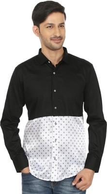 Shubh Shopping Men's Solid Casual Black, White Shirt
