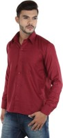 Makhkha Formal Shirts (Men's) - Makhkha Men's Solid Formal Maroon Shirt