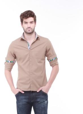 Jogur Men's Solid Casual White Shirt