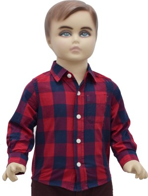 Urban Forest Baby Boy's Checkered Casual Red Shirt