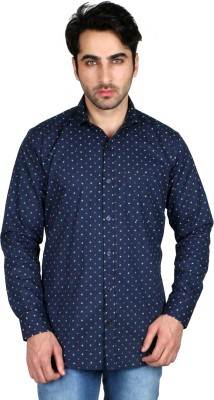 Being Friends Men's Printed Casual Blue, Red Shirt