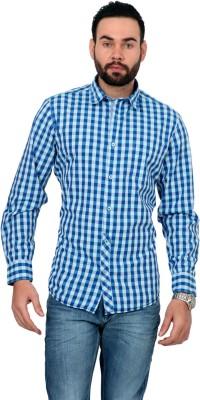 Urban Republic Men's Checkered Casual Blue, Light Blue Shirt