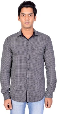 Walk Alone Men's Printed Casual Grey Shirt