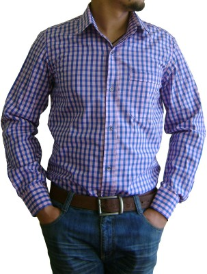 The Luxorian Men's Checkered Formal Multicolor Shirt