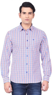 Moustache Men's Checkered Casual Red, Blue, White Shirt