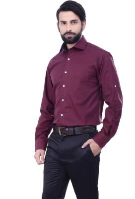 Alpha Centauri Men's Solid Casual Maroon Shirt
