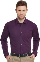 English Navy Formal Shirts (Men's) - English Navy Men's Solid Formal Purple Shirt
