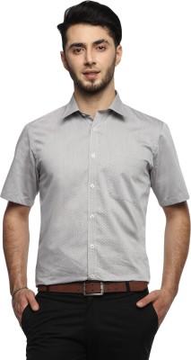 FX Jeans Co Men's Self Design Formal Grey Shirt