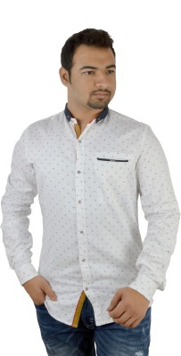 MTN Men's Solid Casual White Shirt
