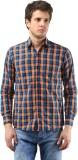Orizzonti Men's Checkered Casual Orange ...