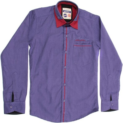 Anry Boy,s Solid Casual Purple Shirt