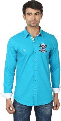 Feed Up Men's Solid Casual Blue Shirt