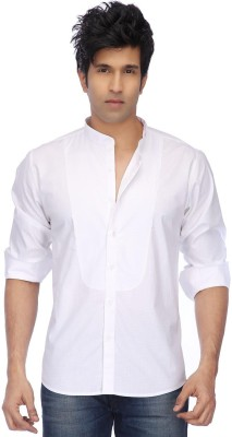 Vettorio Fratini by Shoppers Stop Men's Solid Party White Shirt