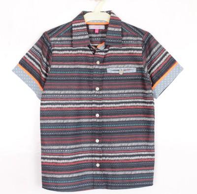 Nana Baby Boy's Striped Casual Multicolor Shirt