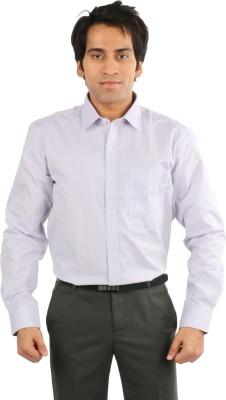 Desar Rana Men's Self Design, Checkered Formal Purple Shirt
