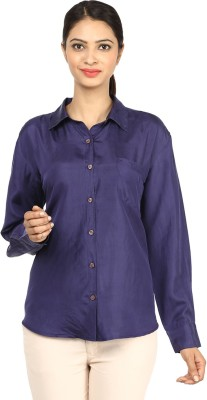 Charisma Women's Solid Formal Purple Shirt
