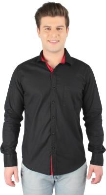 Zoro Auge Men's Solid Casual Black Shirt