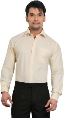 A & C Signature Men's Solid Formal Yellow Shirt