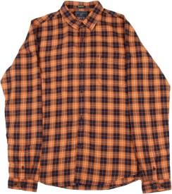Indian Terrain Boys Casual Blue, Orange Shirt