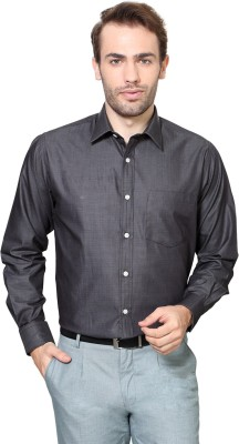 Allen Solly Men,s Solid Formal Grey Shirt