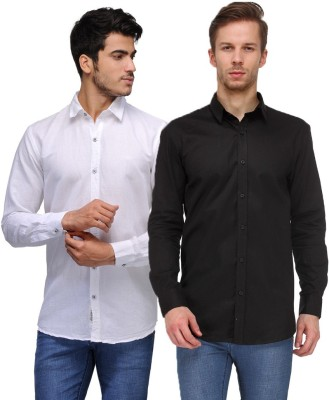 Feed Up Men's Solid Casual Multicolor Shirt