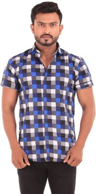 The G Street Men's Checkered Casual Multicolor Shirt