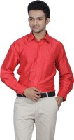 Jpeters Formal Shirts (Men's) - Jpeters Men's Solid Formal Pink Shirt