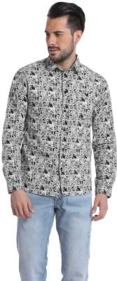 Jack & Jones Men's Printed Casual White Shirt
