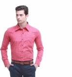 Jogur Men's Solid Formal Red Shirt