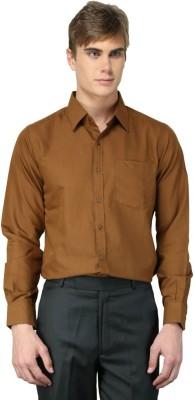 MNW Men's Solid Formal Brown Shirt