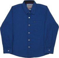 Gini & Jony Baby Boys Solid Casual Blue Shirt best price on Flipkart @ Rs. 1299