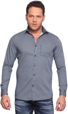Club Fox Men,s Printed Casual Black Shirt