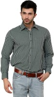 Cotton County Formal Shirts (Men's) - Cotton County Men's Checkered Formal Green Shirt