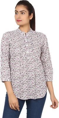 Sneharsh Women,s Printed Casual Pink Shirt