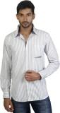 Repique Men's Striped Casual White Shirt