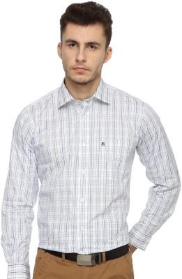 Balista Men,s Checkered Formal Blue Shirt