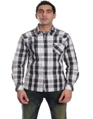 Jogur Men's Checkered Casual Multicolor Shirt