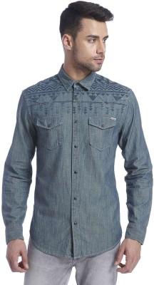 Jack & Jones Men's Solid Casual Light Blue Shirt
