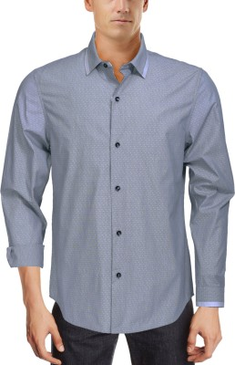 Roar and Growl Men,s Solid Casual Grey Shirt