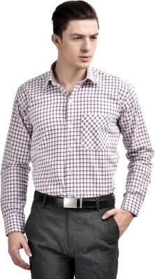 Comfortline Men's Checkered Formal Maroon Shirt