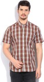Lee Men's Checkered Casual Multicolor Sh...
