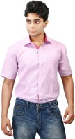Relish Formal Shirts (Men's) - Relish Men's Solid Formal Pink, Red Shirt