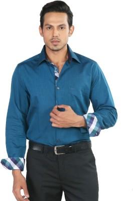 Provogue Men's Solid Formal Green Shirt