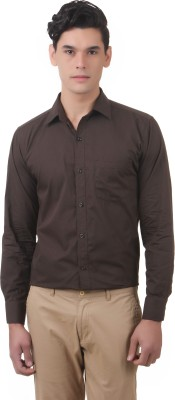 You Forever Men's Solid Formal Green Shirt