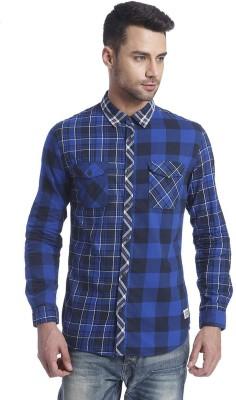 Jack & Jones Men's Checkered Casual Light Blue Shirt