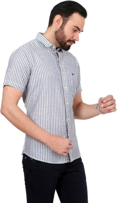 Urban Republic Men's Striped Casual Blue, Green Shirt