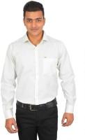 Binani Formal Shirts (Men's) - Binani Men's Solid Formal Green, White Shirt