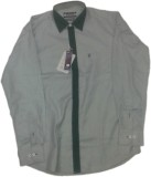 RC Men's Self Design Casual Grey Shirt