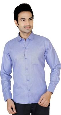 X-Secret Men's Solid Formal Blue Shirt